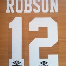 ROBSON 12 MANCHESTER UNITED HOME 1992 1996 NAME NUMBER SET NAMESET PRINT
