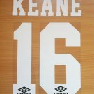 KEANE 16 MANCHESTER UNITED HOME 1992 1996 NAME NUMBER SET NAMESET PRINT