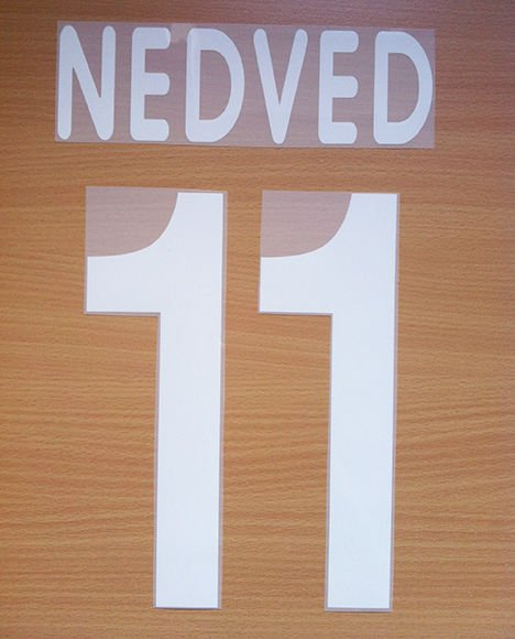 NEDVED 11 JUVENTUS AWAY 2001 2002 NAME NUMBER SET NAMESET KIT PRINT CENTENARY