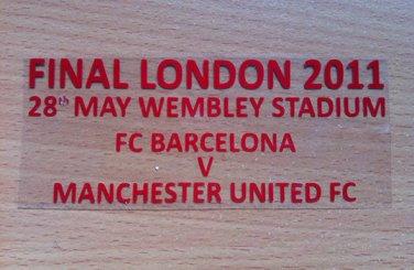 MATCH DETAILS BARCELONA VS MANCHESTER UTD FINAL LONDON 2011 CHAMPIONS LEAGUE