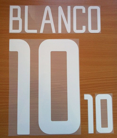 BLANCO 10 MEXICO HOME WORLD CUP 2002 NAME NUMBER SET NAMESET KIT PRINT RETRO