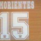 MORIENTES 15 REAL MADRID AWAY 1997 1998 NAME NUMBER SET NAMESET KIT PRINT RETRO