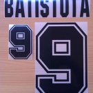 BATISTUTA 9 ARGENTINA HOME WORLD CUP 1994 NAME NUMBER SET NAMESET KIT PRINT