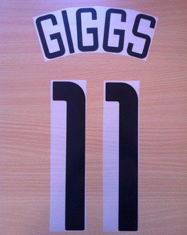 GIGGS 11 MANCHESTER UNITED AWAY UCL 2003 2004 NAME NUMBER SET NAMESET KIT PRINT
