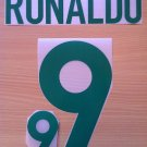 RONALDO 9 BRAZIL HOME 2000 NAME NUMBER SET NAMESET KIT PRINT NUMBERING