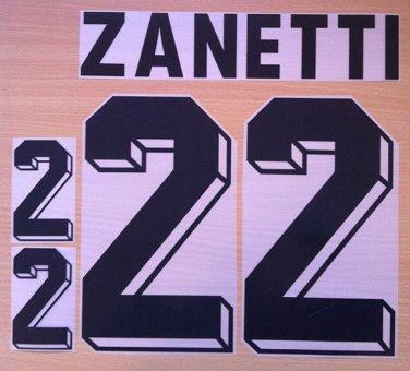 ZANETTI 22 ARGENTINA HOME WORLD CUP 1998 NAME NUMBER SET NAMESET KIT PRINT