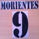 MORIENTES 9 REAL MADRID HOME 2001 2002 NAME NUMBER SET NAMESET KIT PRINT