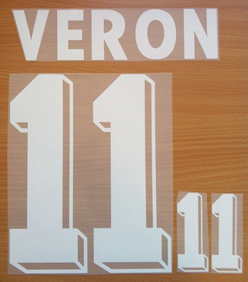 VERON 11 ARGENTINA AWAY WORLD CUP 1998 NAME NUMBER SET NAMESET KIT PRINT