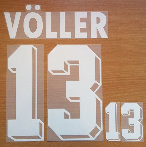 VOLLER 13 GERMANY AWAY WORLD CUP1994 NAME NUMBER SET NAMESET KIT PRINT NUMBERING