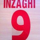 INZAGHI 9 JUVENTUS HOME 1998 1999 NAME NUMBER SET NAMESET KIT PRINT NUMBERING