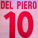 DEL PIERO 10 JUVENTUS HOME 1998 1999 NAME NUMBER SET NAMESET KIT PRINT NUMBERING