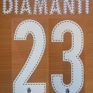 DIAMANTI 23 BOLOGNA HOME 2013 2014 NAME NUMBER SET NAMESET KIT PRINT
