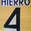 HIERRO 4 REAL MADRID HOME 1998 1999 NAME NUMBER SET NAMESET KIT PRINT RETRO