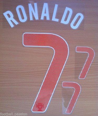 RONALDO 7 PORTUGAL HOME 2013 2014 NAME NUMBER SET NAMESET KIT PRINT FOOTBALL CR7