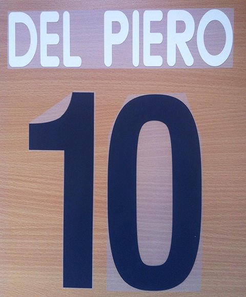 DEL PIERO 10 JUVENTUS HOME 2002 2003 NAME NUMBER SET NAMESET KIT PRINT CENTENARY