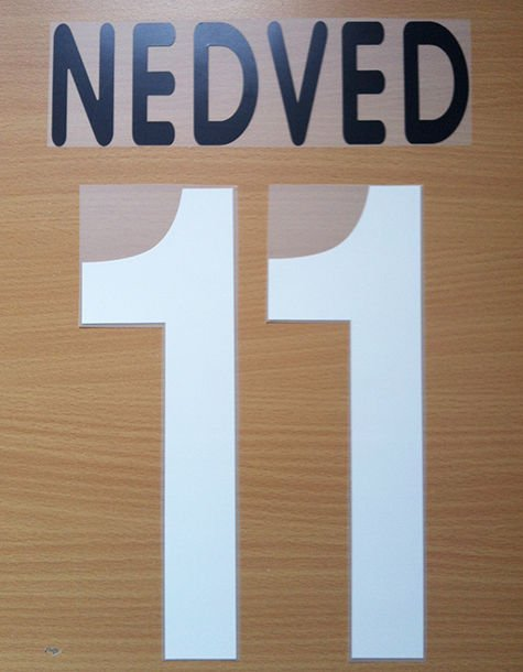 NEDVED 11 JUVENTUS HOME 2001 2002 NAME NUMBER SET NAMESET KIT PRINT CENTENARY