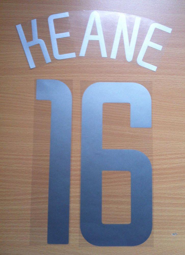 KEANE 16 MANCHESTER UNITED AWAY UCL 2002 2003 NAME NUMBER SET NAMESET KIT PRINT