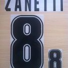 ZANETTI 8 ARGENTINA 1999 2001 NAME NUMBER SET NAMESET KIT PRINT NUMBERING