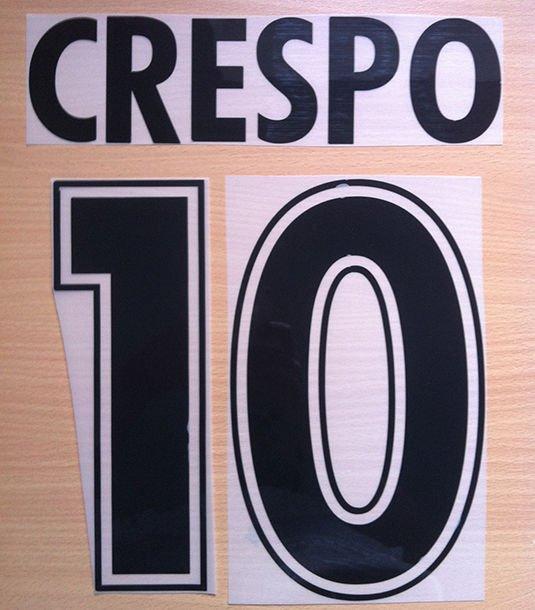 CRESPO 10 SS LAZIO HOME 2000 2002 NAME NUMBER SET NAMESET KIT PRINT NUMBERING
