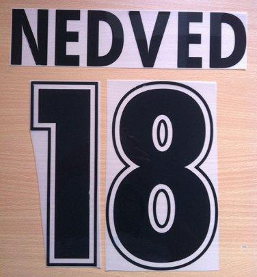 NEDVED 18 SS LAZIO HOME 1998 2001 NAME NUMBER SET NAMESET KIT PRINT NUMBERING