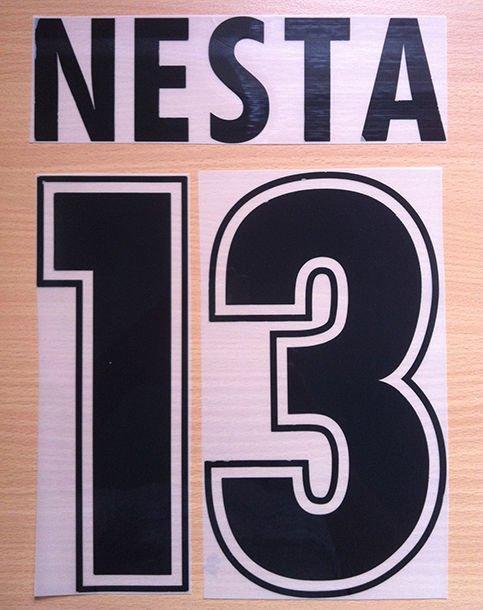 NESTA 13 SS LAZIO HOME 1998 2002 NAME NUMBER SET NAMESET KIT PRINT NUMBERING