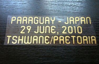 MATCH DETAILS PARAGUAY VS JAPAN JUNE 29 WORLD CUP SOUTH AFRICA 2010 PRINT GOLD