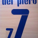ALESSANDRO DEL PIERO 7 ITALY AWAY WC 2010 NAME NUMBER SET NAMESET KIT PRINT