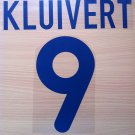 PATRICK KLUIVERT 9 BARCELONA AWAY 2001 2002 NAME NUMBER SET NAMESET KIT PRINT