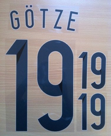 MARIO GOTZE 19 GERMANY HOME 2014 2015 NAME NUMBER SET NAMESET KIT PRINT WORLD CUP BRAZIL 2014