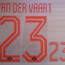 VAN DER VAART 23 HOLLAND away 2014 2015 NAME NUMBER SET NAMESET KIT PRINT FOOTBALL