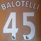 BALOTELLI 45 LIVERPOOL LFC HOME 2014 2015 NAME NUMBER SET NAMESET KIT PRINT FOOTBALL