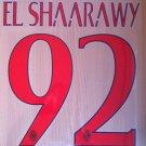 EL SHAARAWY 92 MILAN ACM AWAY 2014 2015 NAME NUMBER SET NAMESET KIT PRINT FOOTBALL