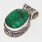 Artisan  Sterling Silver Handcrafted Pendant adorn with Emerald  DTP-41LT5