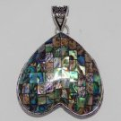 ABALONE SHELL Antique Handcrafted 35gms 925 Silver Jewelry  Pendant P-55L5