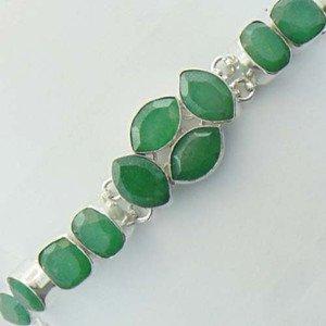 """Gorgeous EMERALD 925 Silver HANDMADE Jewelry Bracelet Sz-7.25"""" BR-30L8"""