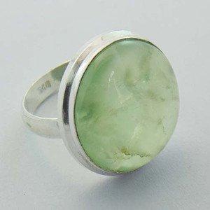 Lovely Prenhite Handmade 925 Sterling Silver Jewelry Ring Sz-7 R-82L1