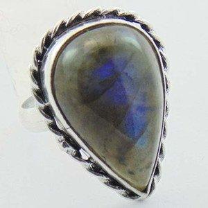 Stunning Labradorite Handmade Jewelry Ring 925 Sterling Silver Sz-8 R-80L1