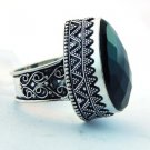 Black Onyx  Handmade Jewelry Ring .925 Sterling Silver Sz-10 R-45L5