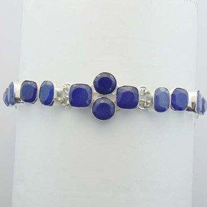 """Blue Sapphire Lovely Handmade Silver Jewelry Bracelet Sz-7"""" BA-32L1"""