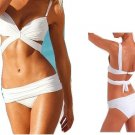 VS Draped Top Women Push Up Padded Swimwear Swimsuit Triangle Bind Maillot Bikini Bathing Suit