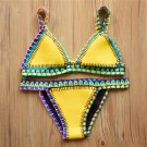 Fashion Female bathing suit Swimwear Women Neoprene Swimsuit maillot Sexy Handmade Crochet Bikini