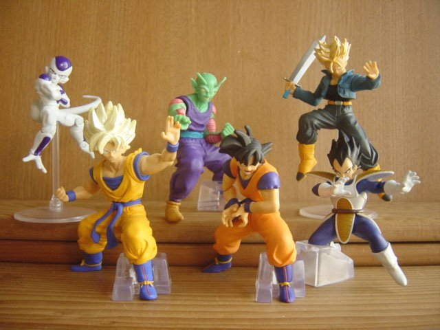 F/S Rare New Dragon Ball Z Gacyapon Action pause x6 Figures Full complete Movable Goku