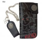 F/S NEW Dragon Ball Z God & God - GOKU Long wallet with chain purse