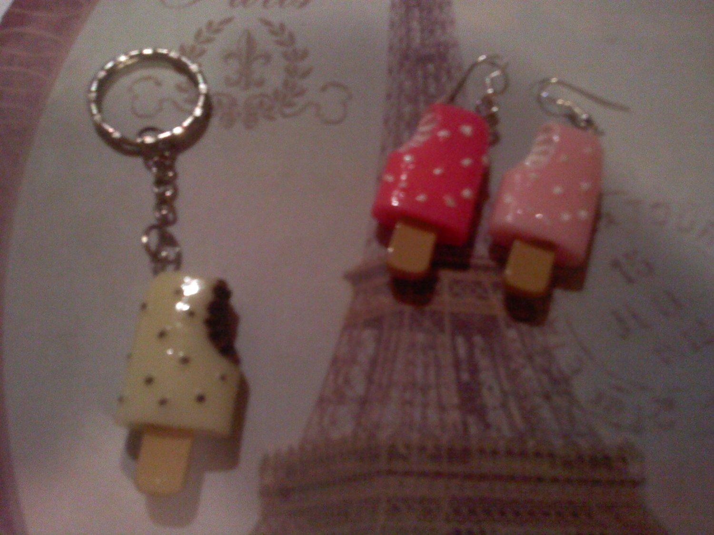 Popsicle earrings or keychain