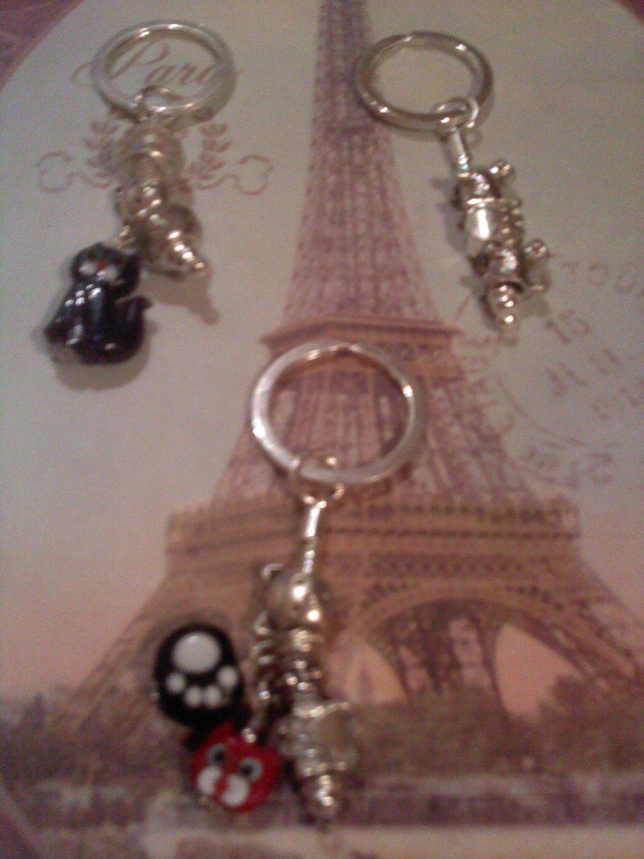 Kitties or Doggies Euro beads key chains