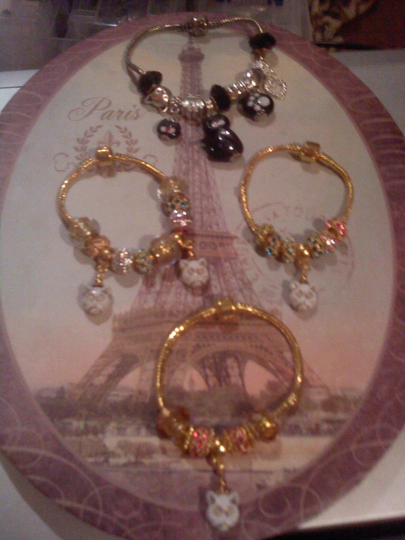 Kitties Euro beads bracelets