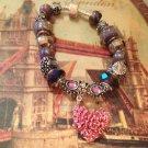My heart euro bead bracelet