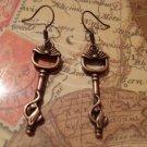 Key cat earrings