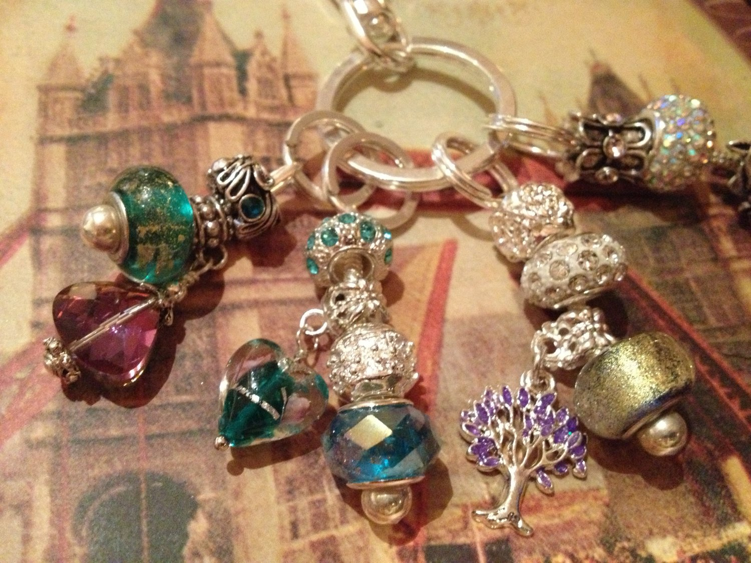 Euro beads multi keychain