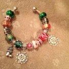 CELEBRATE IT! Euro beads snowflakes bracelet